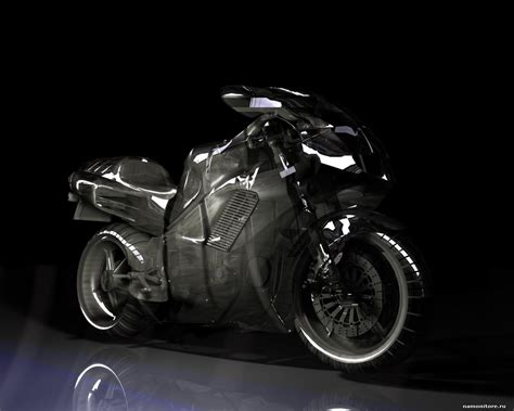 3d A Motorcycle, 3d, Black, Drawed, Motorcycles, Technics