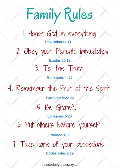 family based on biblical truths 539 | Family Rules 724x1024