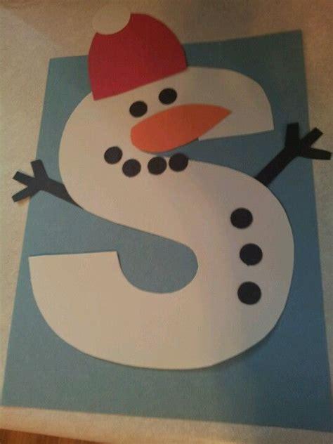 letter  snowman  images letter  crafts letter