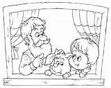 Grandma Coloring Getdrawings sketch template