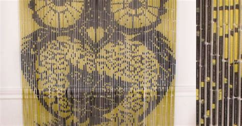 Hand Painted 'owls' Bamboo Beaded Curtain Hot Pink Bathroom Curtains Curtain Valance Ideas To Sew Sets Shower Next Ready Made Bamboo Rate Eclipse Thermal Reviews Navy Blackout Uk Iron In Europe Refers