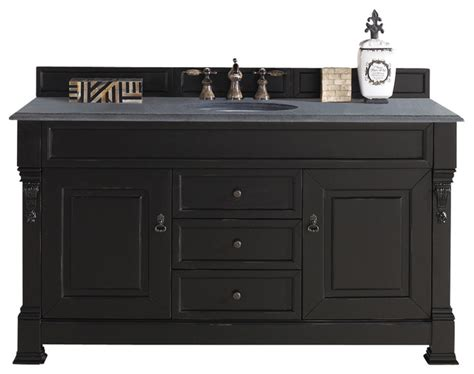 kitchen sink vanity brookfield 60 quot antique black single vanity traditional 2960