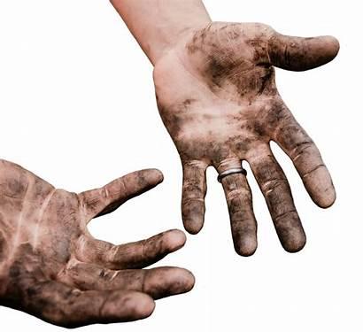 Dirty Hands Transparent Dirt Biting Nail Dangers