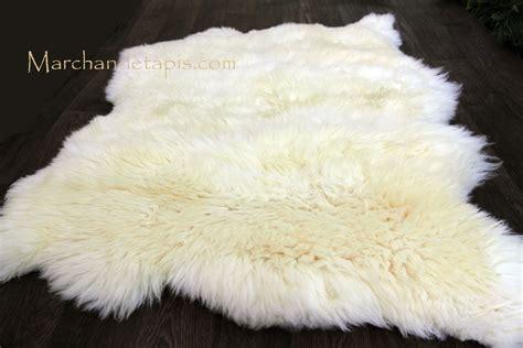 tapis peau de mouton pas cher maison design bahbe