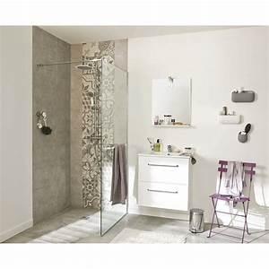 Salle De Bain Le Roy Merlin : meuble de salle de bains de 60 79 blanc beige naturels dado leroy merlin ~ Melissatoandfro.com Idées de Décoration