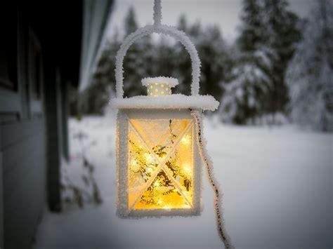 Lantern, Light, Winter, Snow