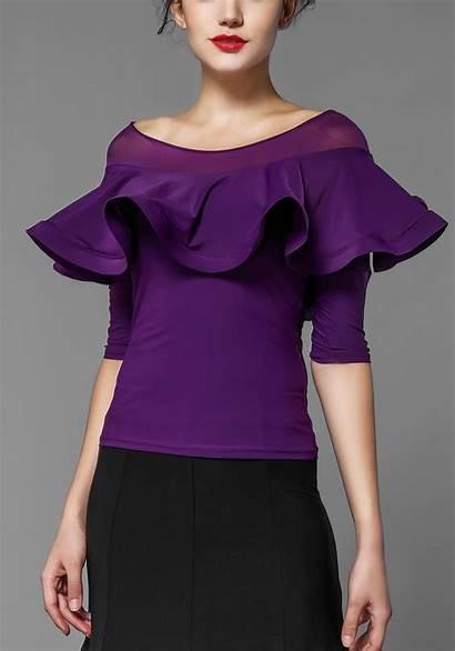 Half Dance Sleeve Shoulder Flare Dancewear