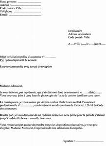 Promesse De Vente Voiture : mod le de lettre r siliation assurance professionnelle vente du fond de commerce ~ Gottalentnigeria.com Avis de Voitures