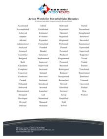 active words resumeactive words resume words for successful sales resumes