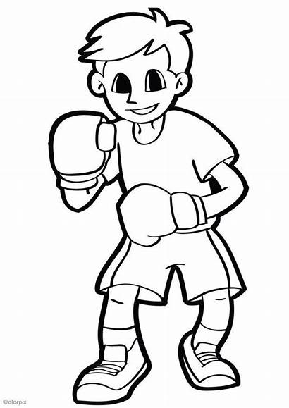 Boxer Coloriage Telechargez Grande