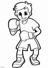 Boxer Coloriage Telechargez Grande sketch template