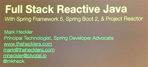 full stack reactive java  project reactor  spring