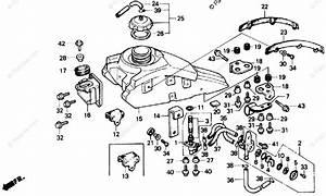 Honda Atv 1986 Oem Parts Diagram For Fuel Tank