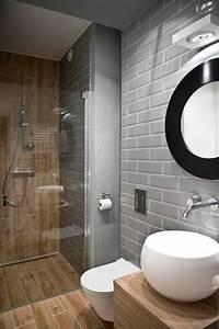 Salle De Bain Grise Et Bois : id e d coration salle de bain salle de bain 6m2 sol en ~ Melissatoandfro.com Idées de Décoration