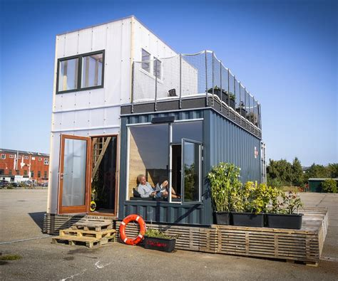 First Gallery Sustainable Shipping Container House Also A