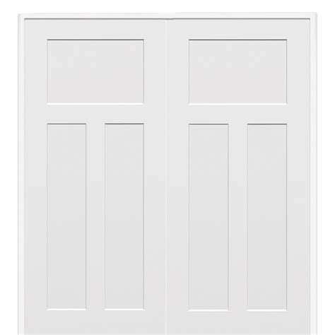 3 panel interior doors home depot milliken millwork 60 in x 80 in molded 3 panel craftsman