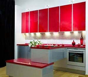 75 plus 25 contemporary kitchen design ideas red kitchen With kitchen colors with white cabinets with red and cream wall art