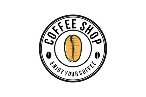 A very interesting brand name resulted in a unique and memorable logo. Coffee Shop with Coffee Bean Logo (Graphic) by LetterTunggal · Creative Fabrica