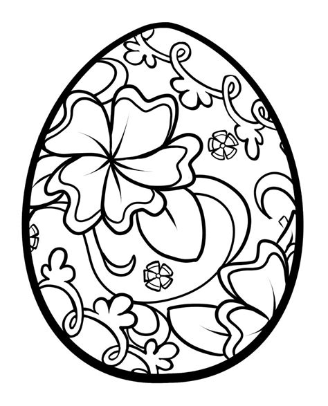 easter egg coloring pages getcoloringpagescom