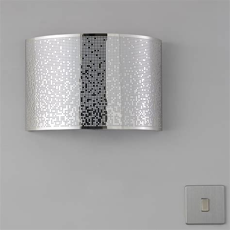 klerk chrome effect single wall light departments diy at b q