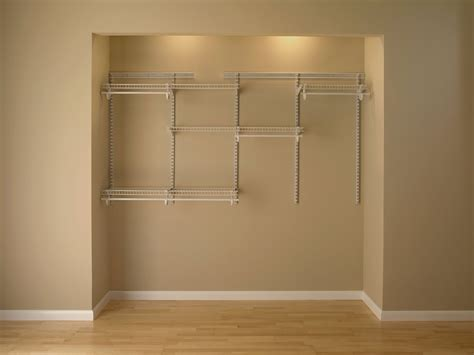 closet organization system 5 to 8 white color