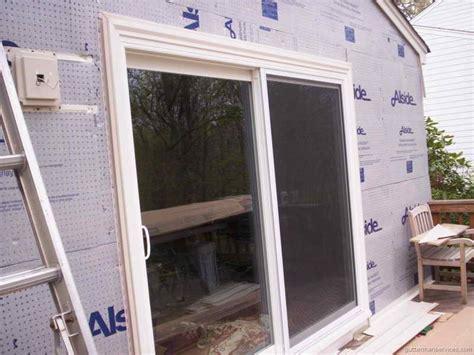 doors windows patio door installation how to install