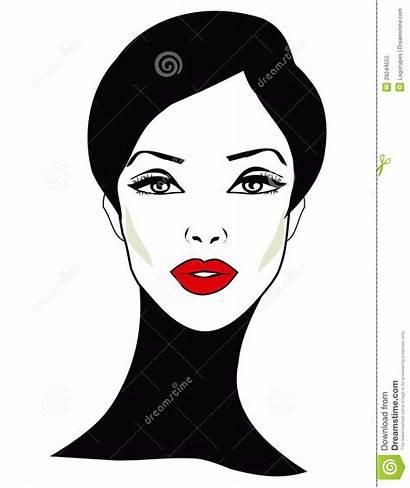 Clipart Clip Face Woman Retro Pretty Royalty