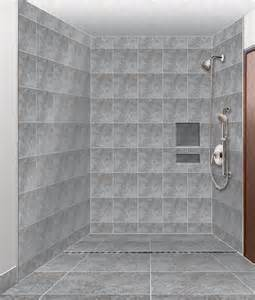 Handicapped Accessible Bathroom Plans by Barrier Free Shower Design Awaiting Installation