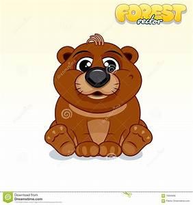 Cute Cartoon Brown Bear. Funny Vector Animal Stock Vector ...
