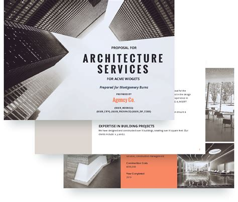 architecture proposal template  sample proposify