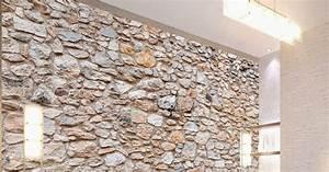 Papier Peint Vinyl Imitation Carrelage : merveilleux papier peint imitation pierre naturelle 1 ~ Premium-room.com Idées de Décoration