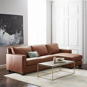 west elm sofas sale up to 30 off sofas sectionals chairs With henry leather sectional sofa