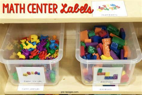 how to set up a math center in preschool or kindergarten 375 | Math Center Labels for Preschool