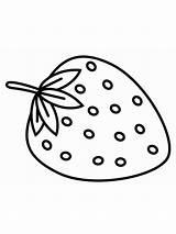 Strawberry Coloring Pages Berries Print Fruits Printable Colors Recommended sketch template