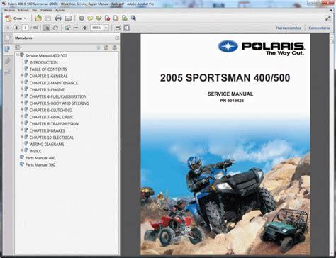 Polaris Sportsman Service Manual