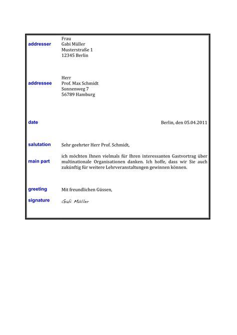 writing  formal letter  german german language blog