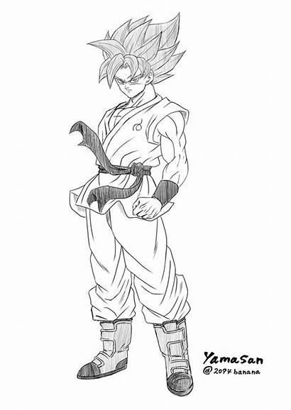 Goku Dragon Ball Lapiz Super Dibujo Dibujos