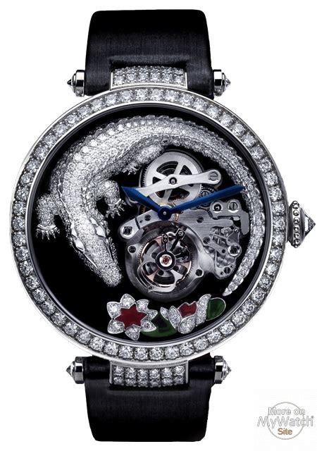 montres modernes et collection cartier montre tourbillon et crocodile high jewellery collection hpi00414 white gold