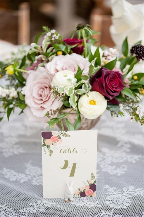 Trending  Burgundy And Blush  Ee  Wedding Ee   Centerpieces For