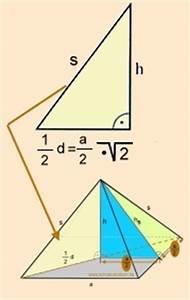 Höhe Von Pyramide Berechnen : mathematische formeln klasse 9 10 volumen oberfl che mantelfl che von k rpern berechnen ~ Themetempest.com Abrechnung