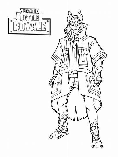 Fortnite Coloring Skin Pages Drift Stage Printable