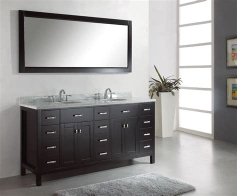 Double Sink Vanity Application For Spacious Bathroom