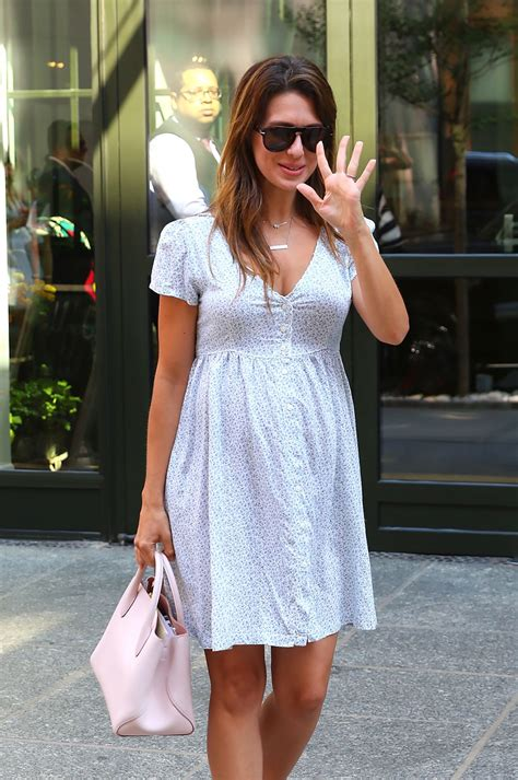 Hilaria Baldwin - Shows Off Her Growing Baby Bump - Out in ...