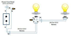 wiring a light two lights operated by one switch how to wire two lights controlled from one switch