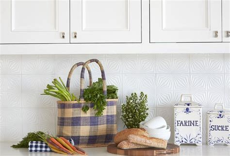 white textured kitchen tiles transitional kitchen