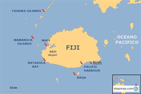 stepmap fiji map  landkarte fuer fiji