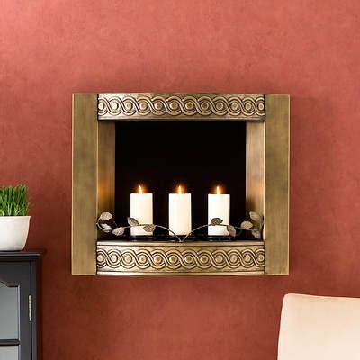 Wallmount Gel Fuel Fireplace  Antique Gold Bj's