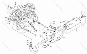 Arctic Cat Side By Side 2015 Oem Parts Diagram For Engine And Exhaust