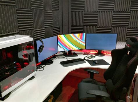 l shaped desk gaming setup 8 best gaming computer desks images on pc