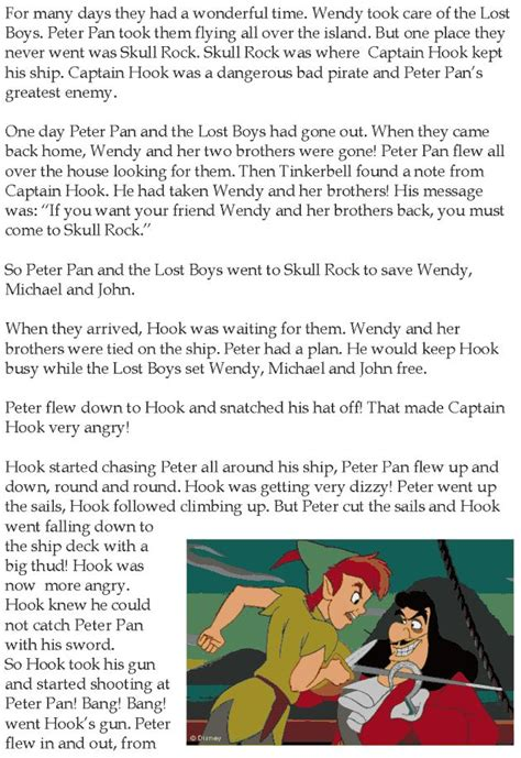 grade  reading lesson  fairy tales peter pan
